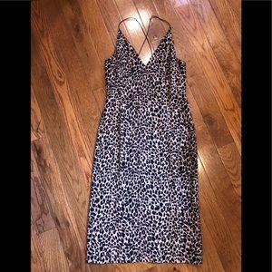 Leopard midi bodycon dress